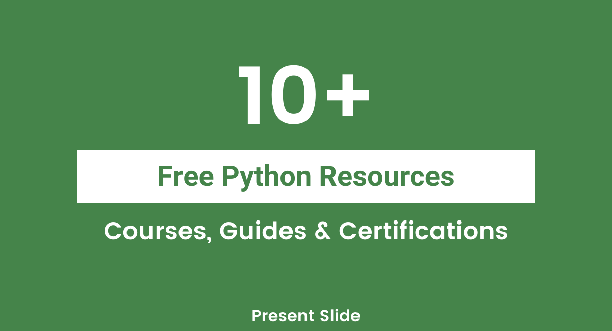 Free Python Courses & Certifications