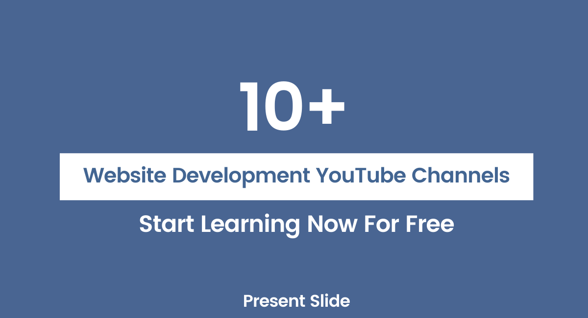 Best YouTube Channels For Learning Website Development